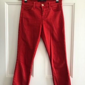 Red unused J-brand Jeans in size 24